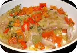 cuisiner la raie au four aile de raie au poivron