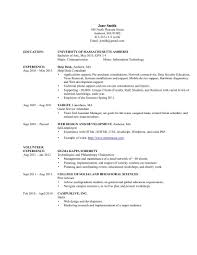 Information For Resumes