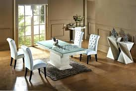 Quality Dining Room Sets High Chairs Round Marble Top Table Set Tables 7 Kitchen White