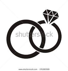 Vector black wedding rings icon on white background by Alemon cz via Shutterstock