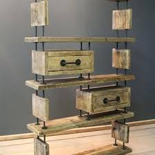 Modern Rustic Shelves Living Room Office Shelving Unit Made From Reclaimed Timber And Mild