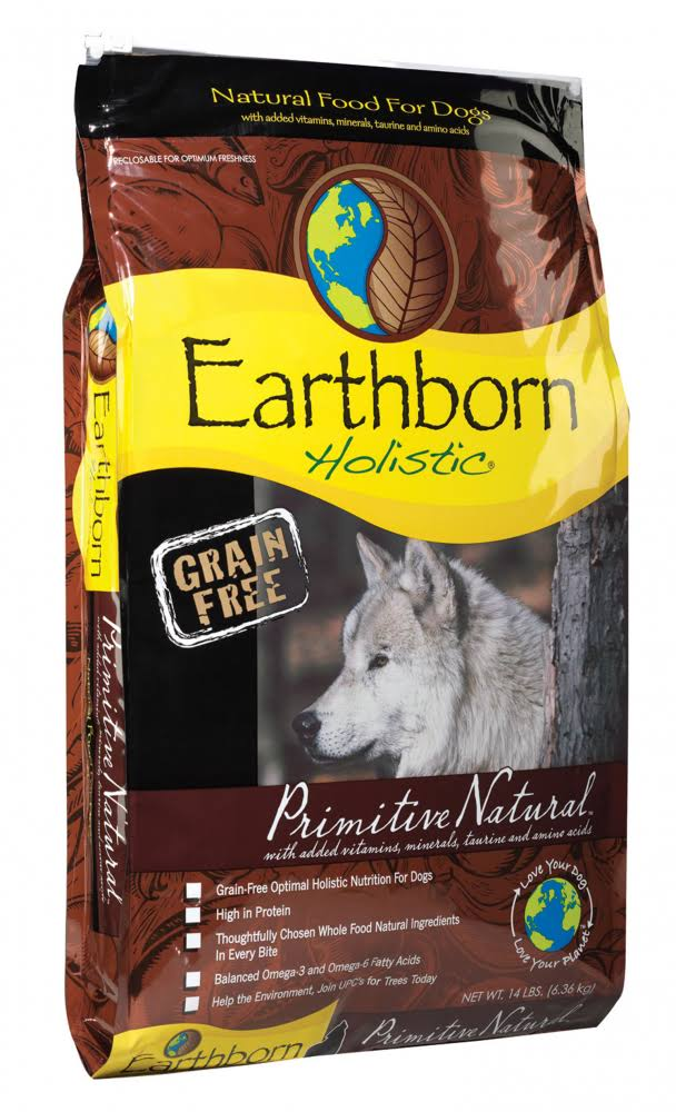 Earthborn Holistic Grain Free Primitive Natural Dog Food - 14lbs