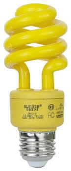 sunlite sm13 y 13 watt t3 spiral l medium e26 base yellow
