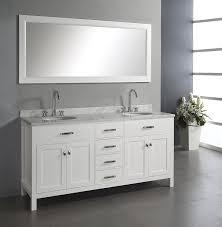18 Inch Depth Bathroom Vanity by Virtu Usa Md 2072 Wmro Wh Caroline 72 Inch Double Sink Bathroom