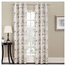 Insulated Curtain Panels Target by Summerland Thermal Lined Room Darkening Curtain Panel Sun Zero