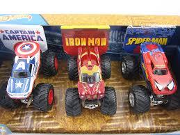 100 Spiderman Monster Truck Hot Wheels Jam Marvel 3 Pack Captain America Iron Man