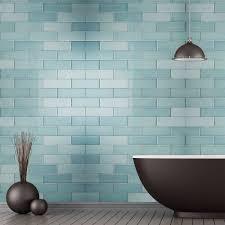 aquarelle gloss pistachio green brick ceramic wall tiles