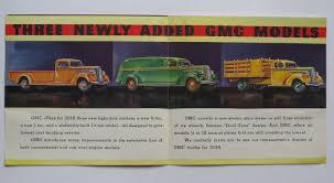 1938 GMC Light-Duty Truck Foldout Brochure3/4-Ton 1-Ton 1-1/4 Ton ...