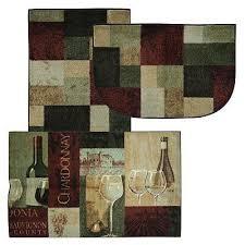 Wine Themed Kitchen Set by Great Wine Kitchen Rugs Grape And Wine Themed Kitchen Rugs Kitchen