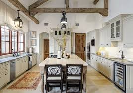 Best Rustic White Kitchen Ideas With Hanging Lamps