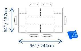 Ideal Dining Table Dimensions Required For 6 People