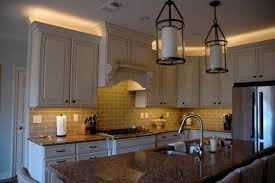 led cabinet lighting kitchen traditional with country