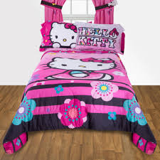 Hello Kitty Room Decor Walmart by Hello Kitty Floral Ombre Reversible Twin Full Bedding Comforter