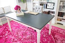 Dining Room Table Repurposed As A Desk For Home Office