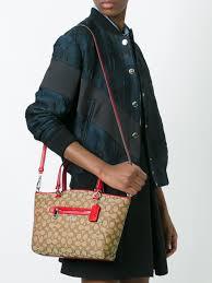 micoach pas cher coach sac porté épaule monogrammé femme sacs