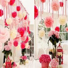 Online Cheap Handmade Diy Tissue Paper Poms Colorful Flower Balls