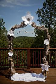 Homemade Wedding Arches Ideas Diy Arch A Square Rustic