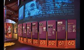 A Dimensional Timeline At The Museum Bethel Woods Uses Static Text And Video To Capture