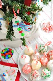 Rice Krispie Christmas Tree Ornaments by Peppermint Rice Krispies Treats Snowballs