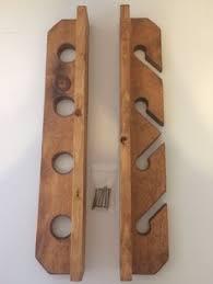 wall mount 6 pole fishing rod rack furniture pinterest rod