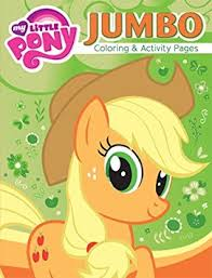 Get Quotations My Little Pony Jumbo Coloring Activity Book 72 Pieces