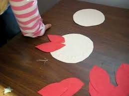 Arts And Crafts Activity Red Color Paper Poinsettia Flower Idea For Kids