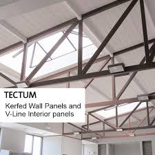 Tectum Lay In Ceiling Panels by Fine Line Interiors Acoustic Ceilings And Wall Treatments