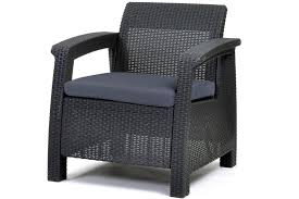 Keter Rattan Lounge Chairs by Corfu Rattan Style Armchair Keter