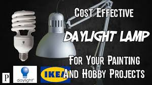 how to make cost effective daylight ls for painting and hobby