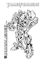 Bumblebee Transformer Coloring Page Transformers Printable Pertaining To Pages