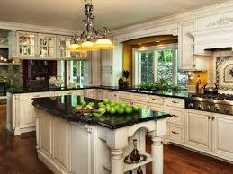 Kitchen Black Granite Countertops With White Kitchen Cabinets Team