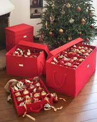 Storage Fashionable Rubbermaid Christmas Ornament Box Inside