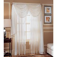 Blue Crushed Voile Curtains by Crinkled Voile Window Panel Dress Your Windows With Sears And Kmart