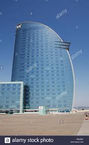 100 The W Barcelona Exterior Of The Hotel On The Seafront In