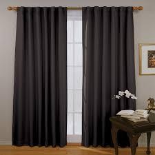 Eclipse Room Darkening Curtain Rod by Amazon Com Eclipse 11353052x084bk Fresno 52 Inch By 84 Inch