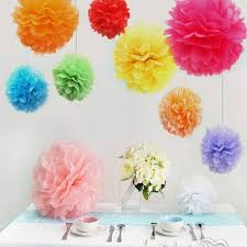 Diy Multi Colour Mixed Sizes Paper Flowers Ball Wedding Home Birthday Party Car Decoration Tissue Pom