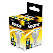 energizer gu10 led light bulb 3 6w cool white non dimmable