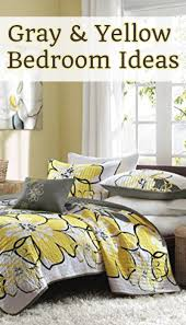 Gray And Yellow Bedroom Ideas Bedding Decor Pictures DIY More