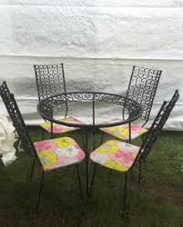 Vintage Woodard Patio Chairs by Vintage Woodard Iron Patio Set Ultra Rare Design All Pieces
