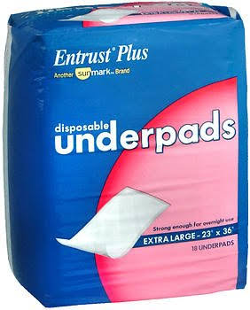 Entrust Plus Disposable Underpads - XLarge, 18ct