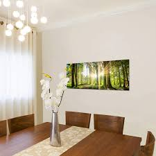 leinwandbild wald landschaft print wandbild kunstdruck