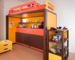 lit et bureau enfant lit superposé simple contemporain pour enfant unisexe