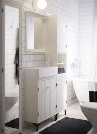 Medicine Cabinet Ikeaca by Solving The Tiny Bathroom Dilemma A White Bathroom With Narrow