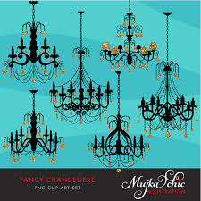 Fancy Gold Foil Chandelier Clipart With Glitter Crystals Instant Download Silhouette Graphics From MUJKA On Etsy Studio