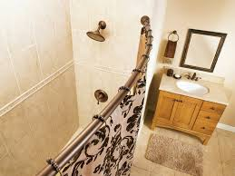 Menards Tension Curtain Rods by Bathroom Decorative Curved Shower Curtain Rod For Bathroom Decor