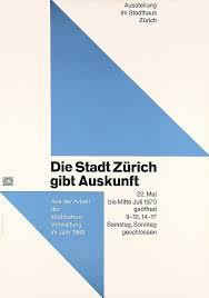 Original 1970 Swiss Design Poster HANS NEUBURG Zurich