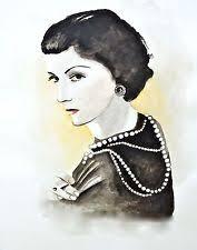 Coco Chanel Print Poster Art Black Fashion Illustration Couture 8