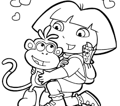 Dora Coloring Page Free Printable The Explorer Pages For Kids Online