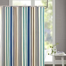 Vertical Striped Window Curtains by Vertical Stripe Fabric Shower Curtain With Ring Hooks 72 X 72 Inch