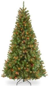 Three Posts Green Spruce Artificial Christmas Tree With Multicolor Lights Height 75